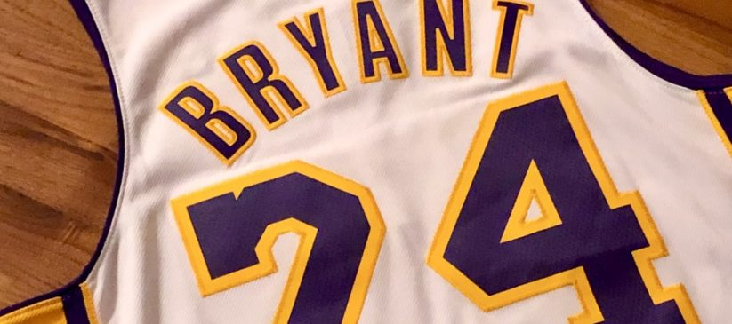 Lakers basketball jersey with Kobe Bryant's number