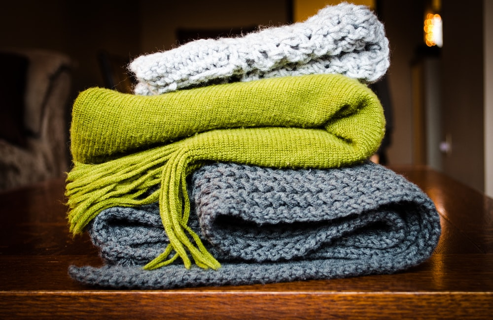Woolen clothes after being dry cleaned