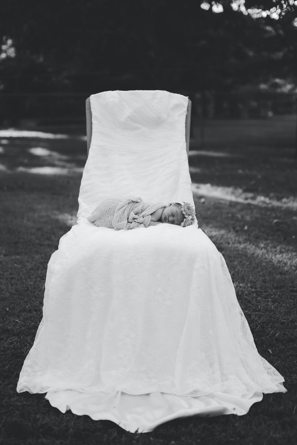 Photoshoot done with a wedding dress
