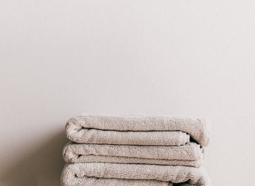 Neatly cleaned and folded towels